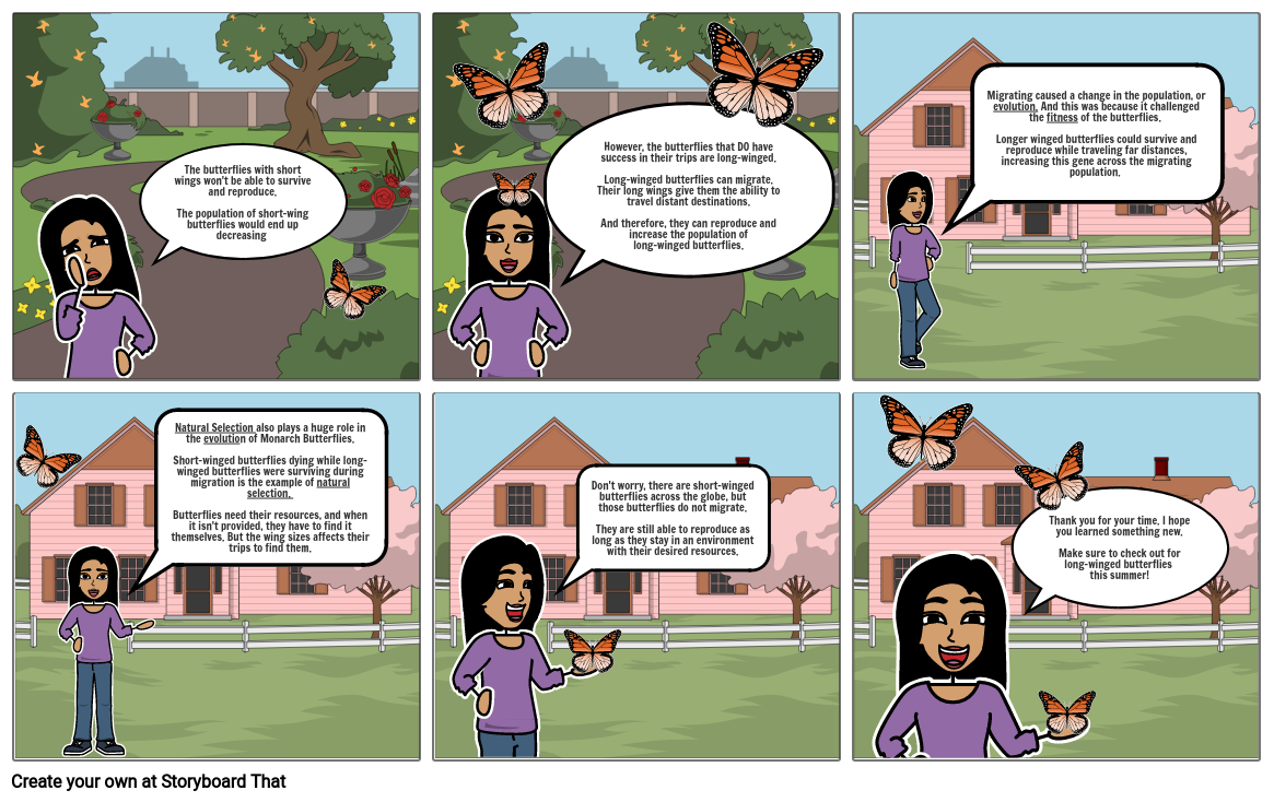 The Evolution of Monarch Butterflies