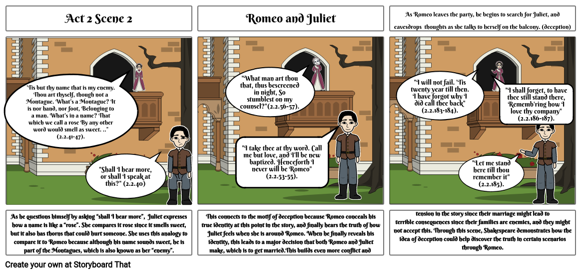 Romeo and Juliet storyboard 1