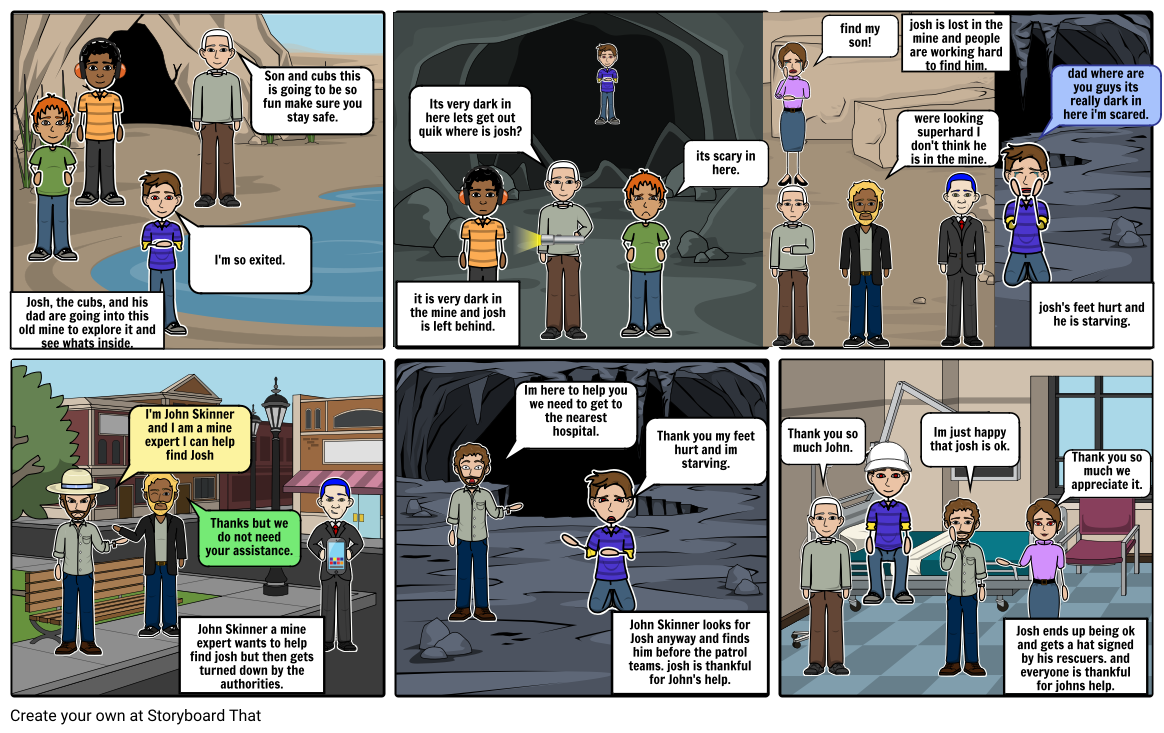 kids with courage storyboard