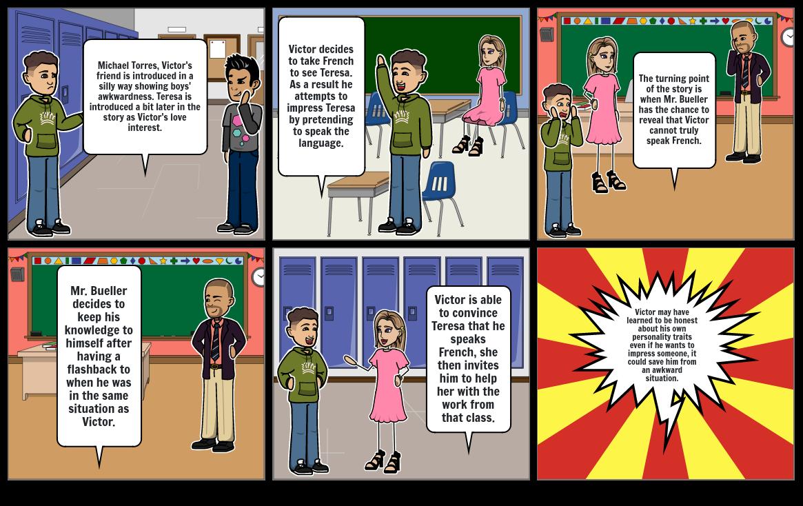 Seventh Grade - Gary Soto Storyboard