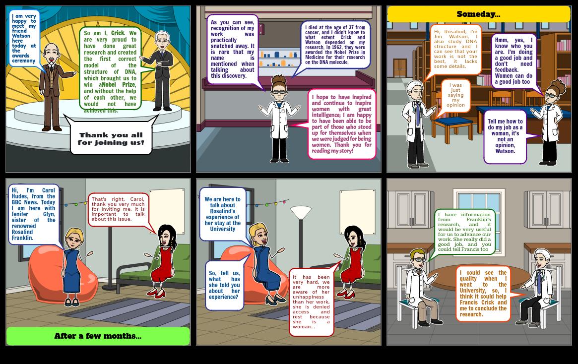 Comic Strip - Rosalind Franklin and DNA