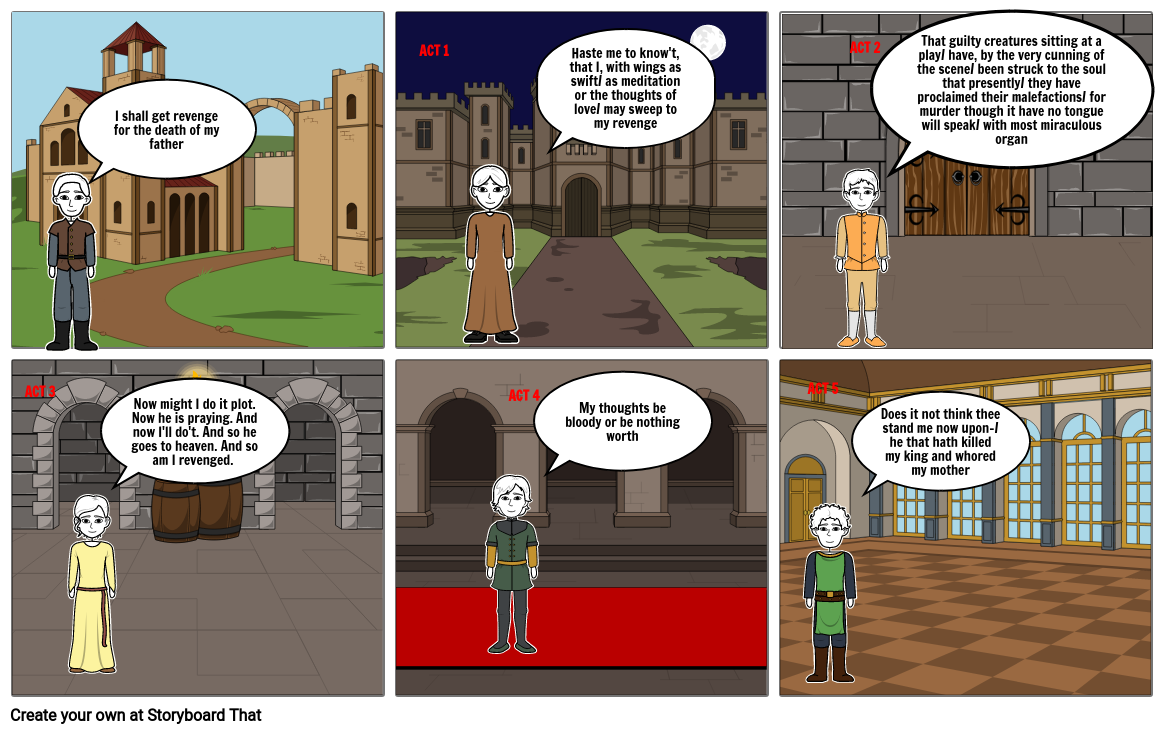 hamlet theme of death comic strip