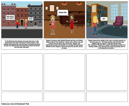 Project storyboard for Mr. Westing