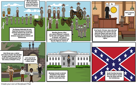 Pre-Civil War story board