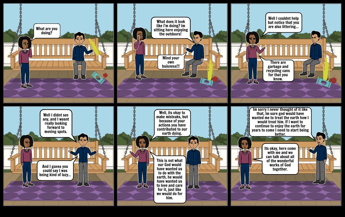 Creation Story Comic Strip