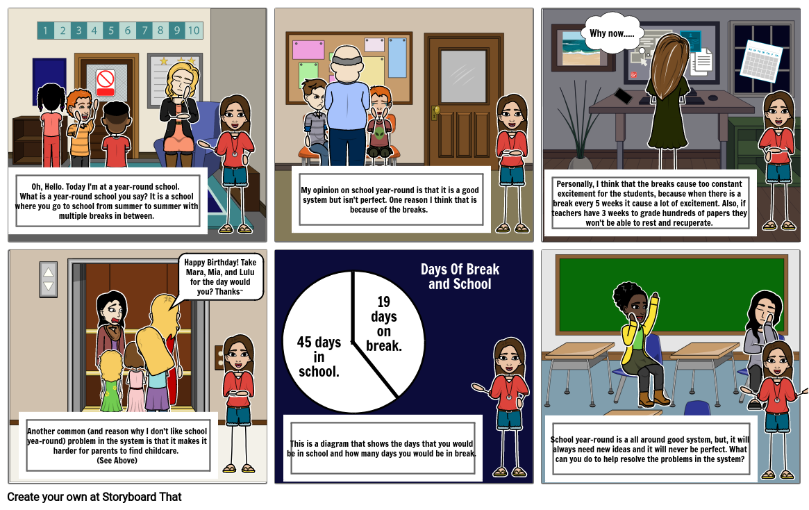 Issue Based Research Storyboard: School Year-Round