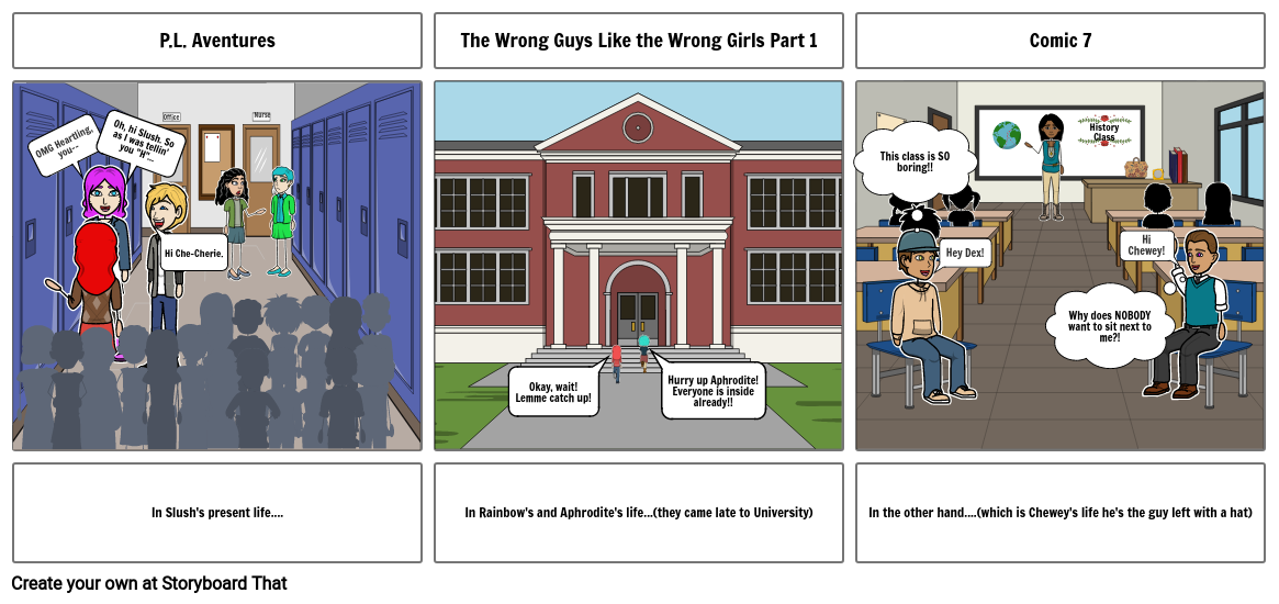 P.L. Adventures-The wrong guys like the wrong girls Part 1