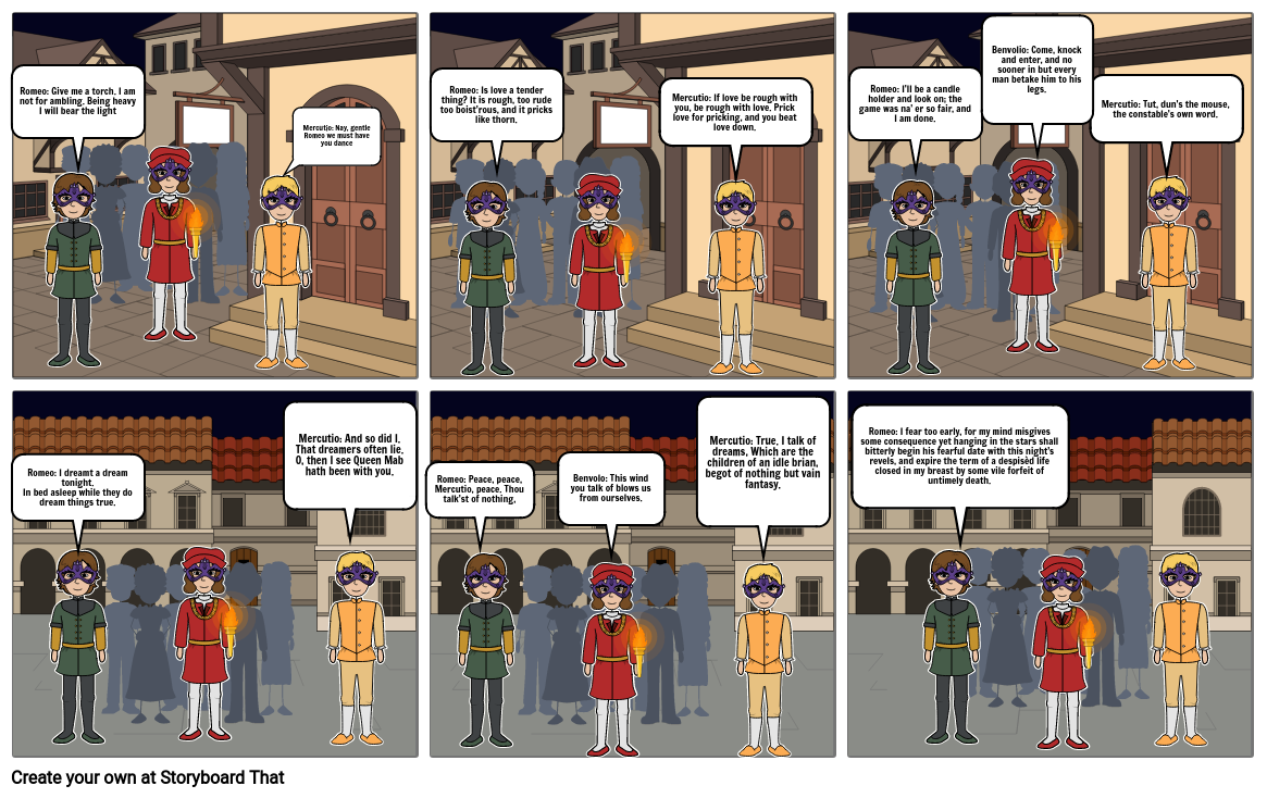 Romeo and Juliet Comic Strip