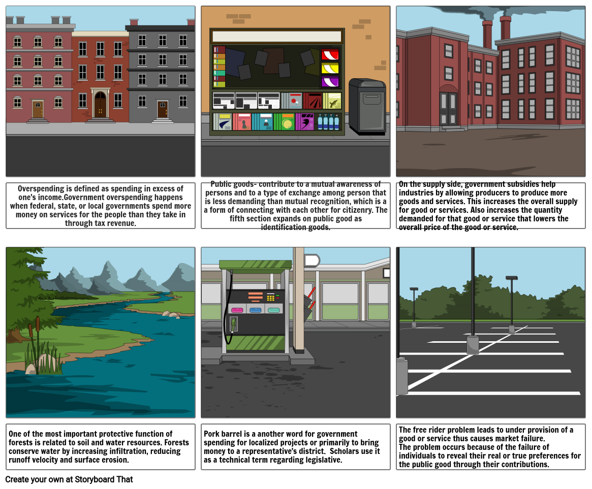 Government and the Economy Storyboard