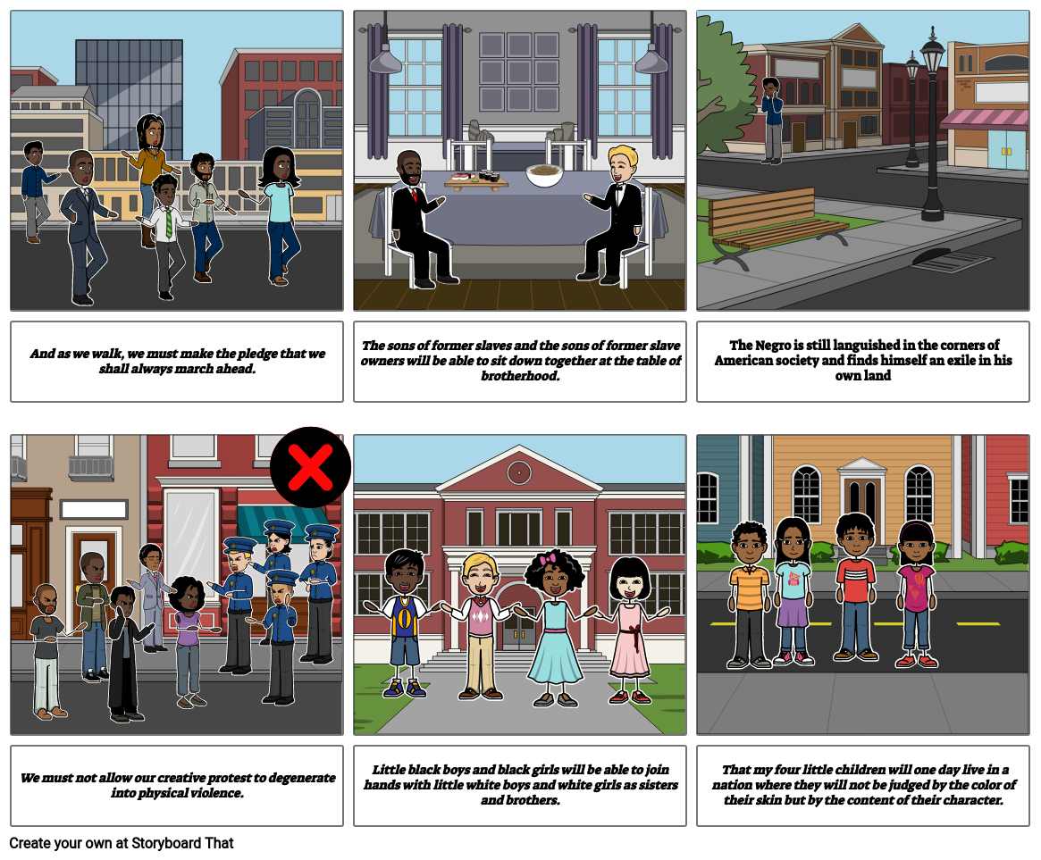 I have a dream Story Board P.4 Ms. V