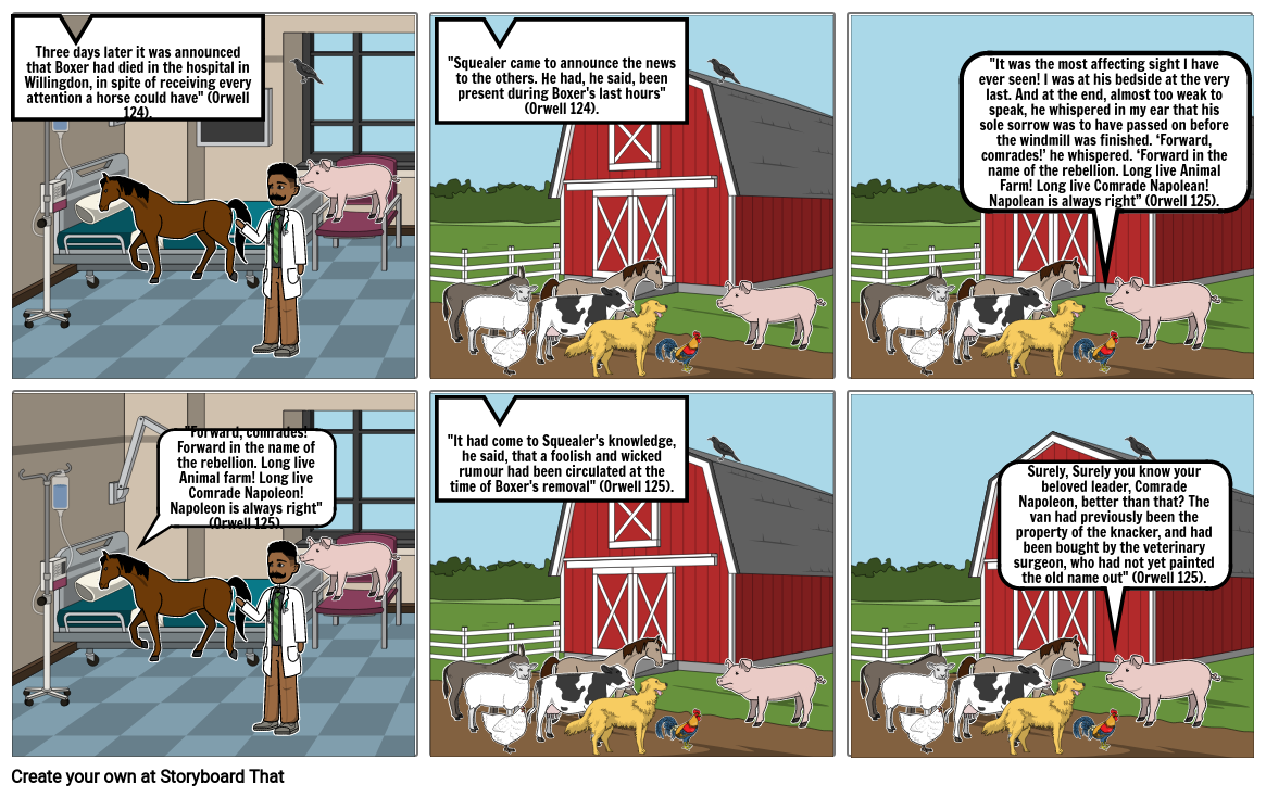 Animal Farm Story Board