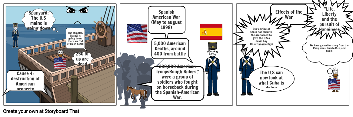 spanish ameriacn war cartton