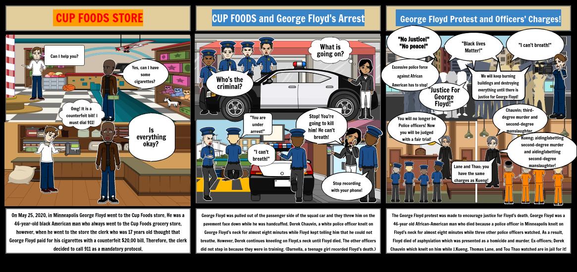 George Floyd Protests Storyboard