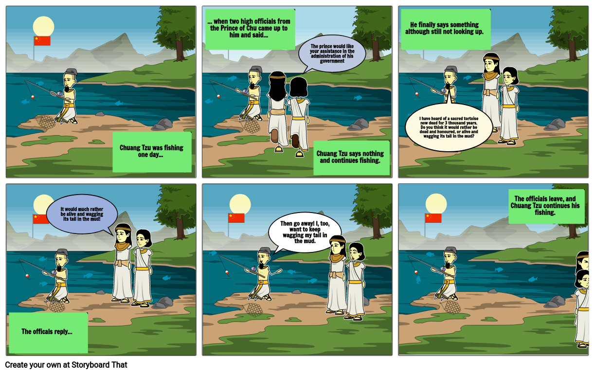 Chuang Tzu, 1st Story