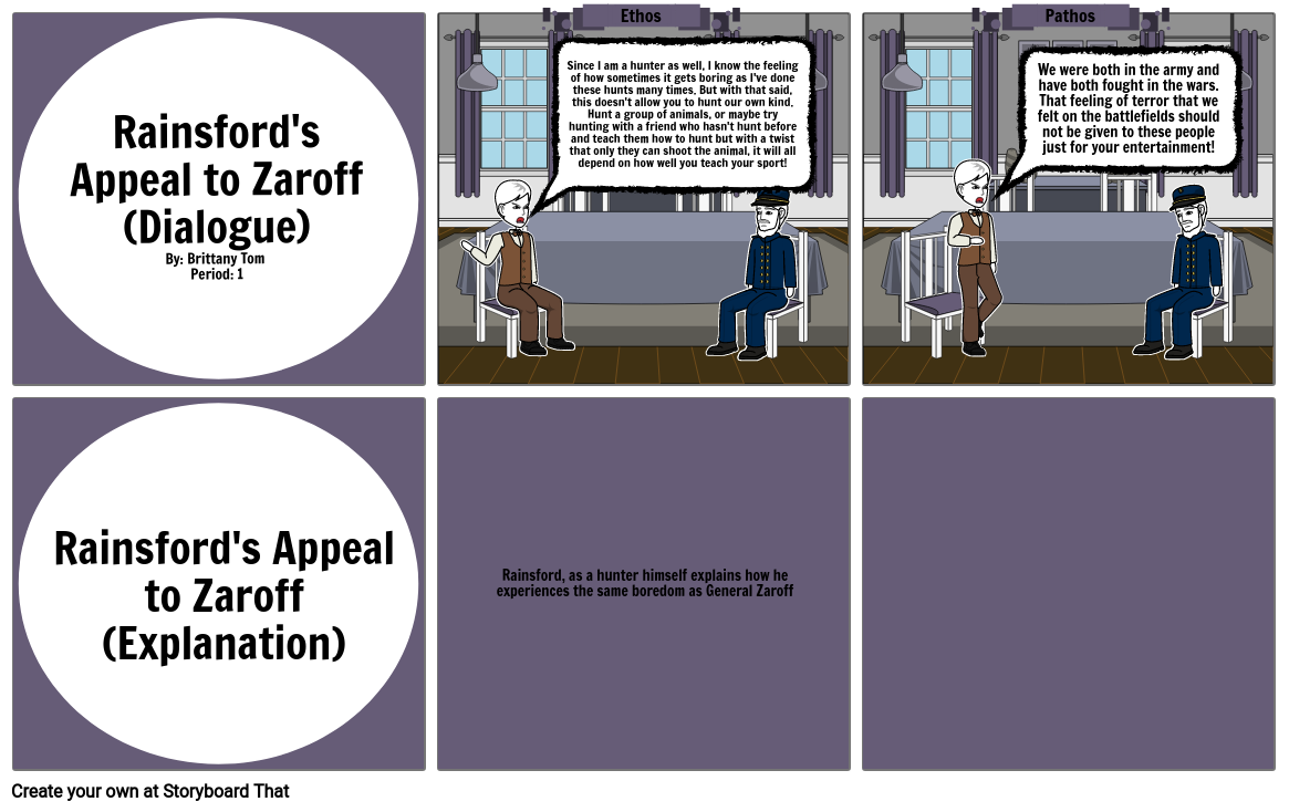 Rainford's Appeal to Zaroff (Brittany Tom Period 1)