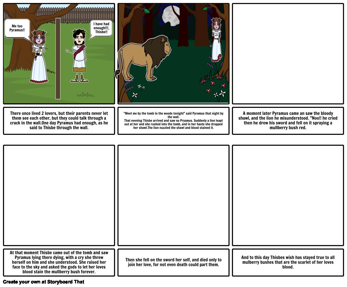 Pyramus and Thisbe Storyboard par 8d358ae925392