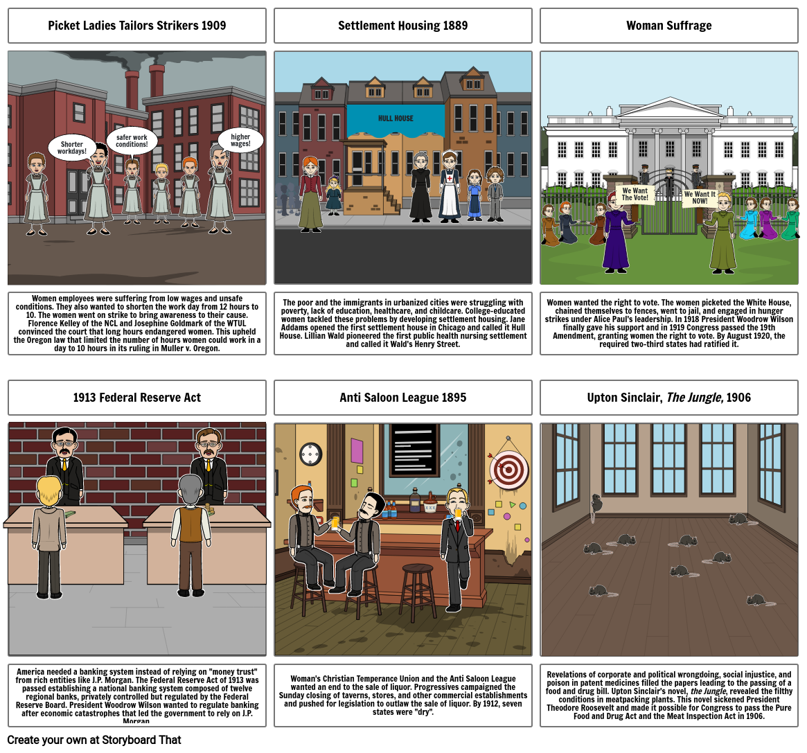 Progressive Era Storyboard