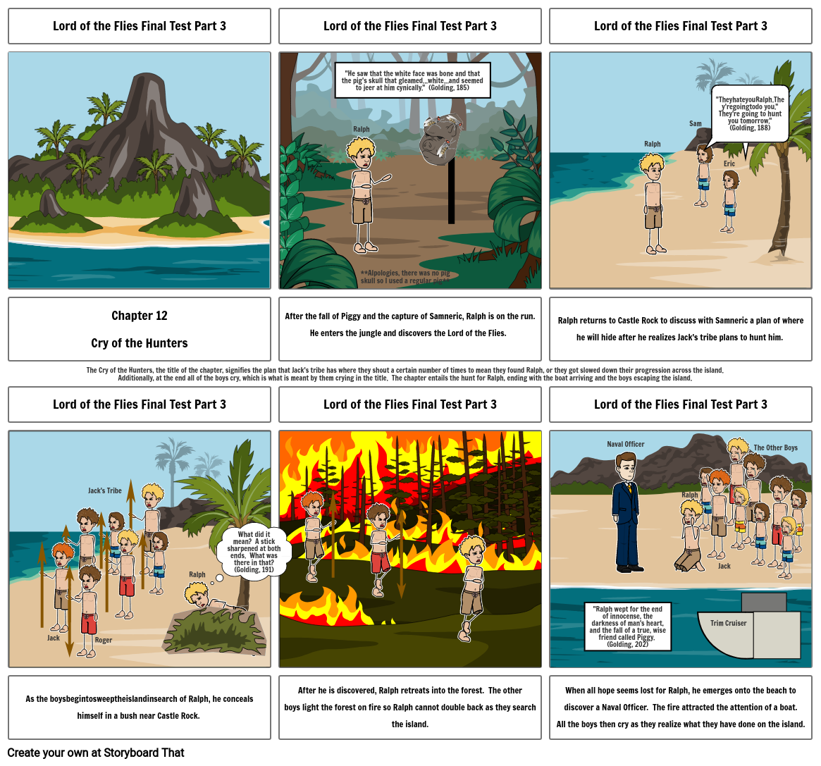 Lord of the Flies Final Test Part 3