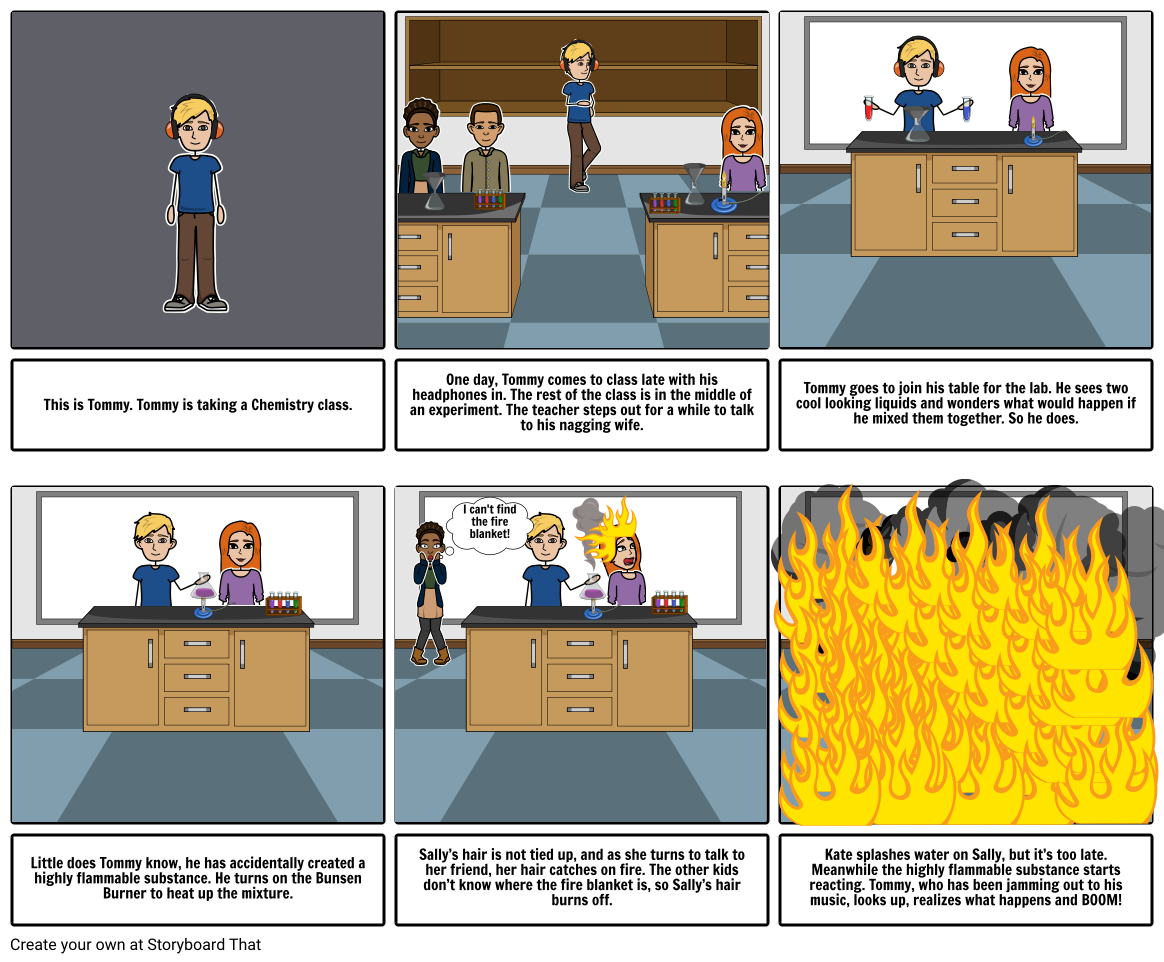 Lab Safety Rules Comic
