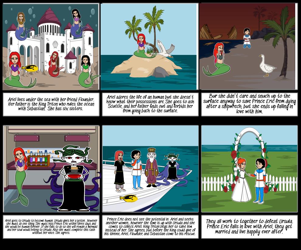 The Little Mermaid Storyboard
