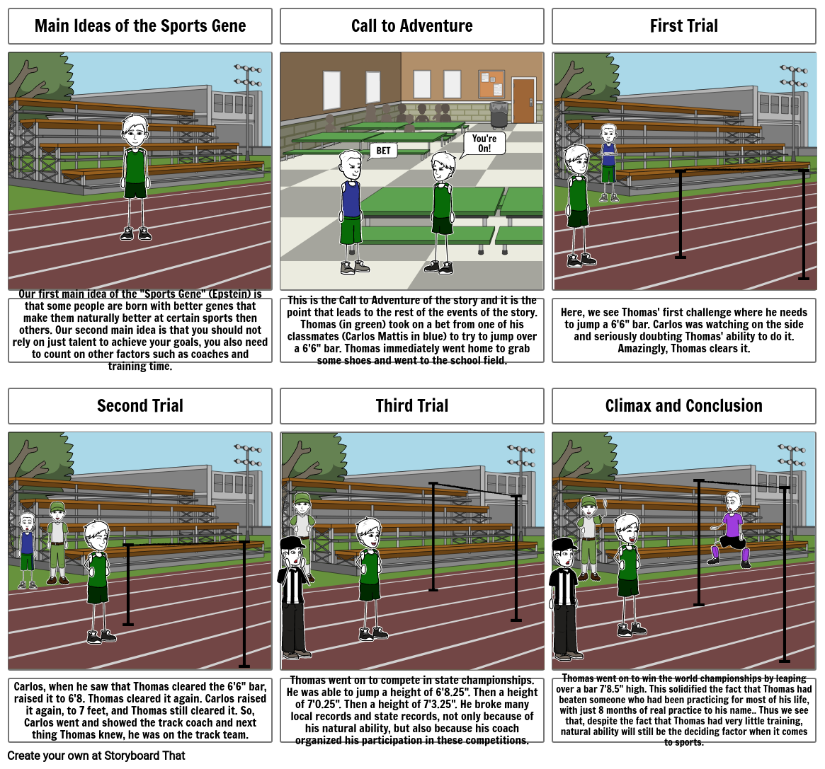 Sports Gene Storyboard Assignment