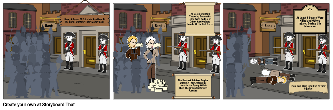 Tension In Boston (Colonist Or Soldiers)