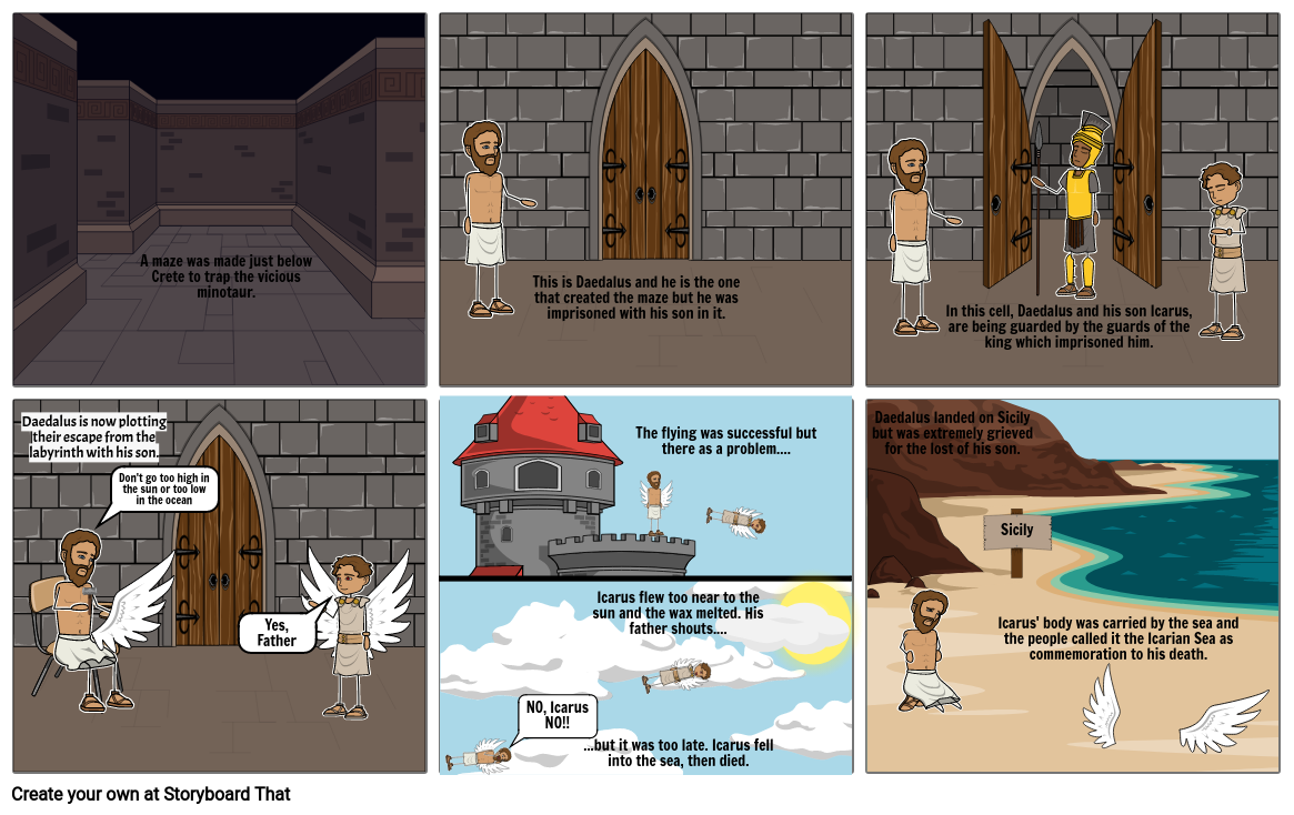 Daedalus and Icarus Comic Strip