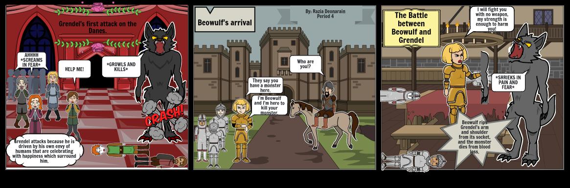 Storyboard of Beowulf - Razia Deonarain Period 4