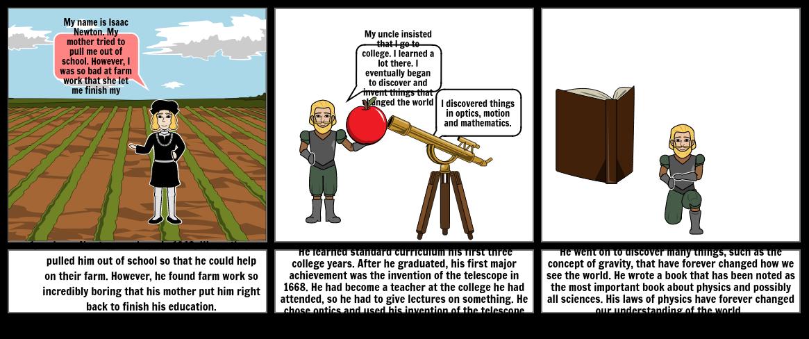 Isaac Newton Story Board