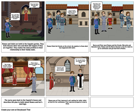 Act II Storyboard Romeo and Juliet