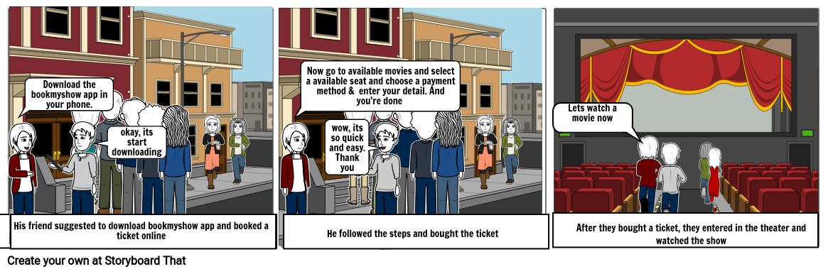 online booking Storyboard by 9e7fe418
