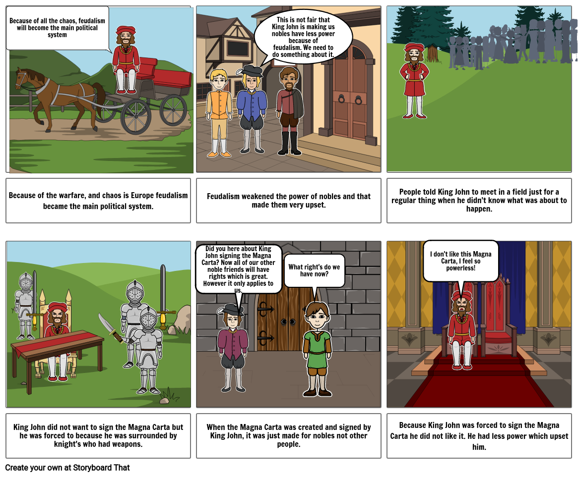 Middle Ages Story Board