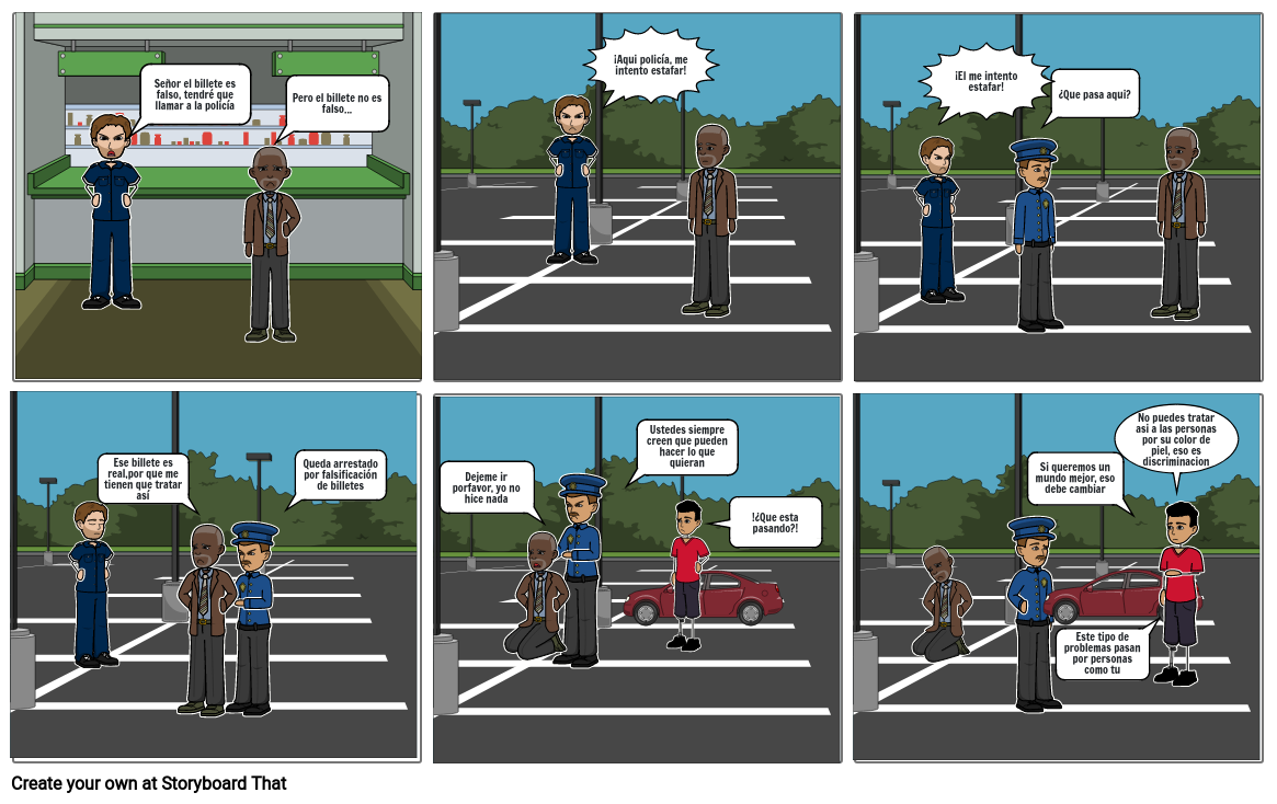 Historieta: Discriminacion
