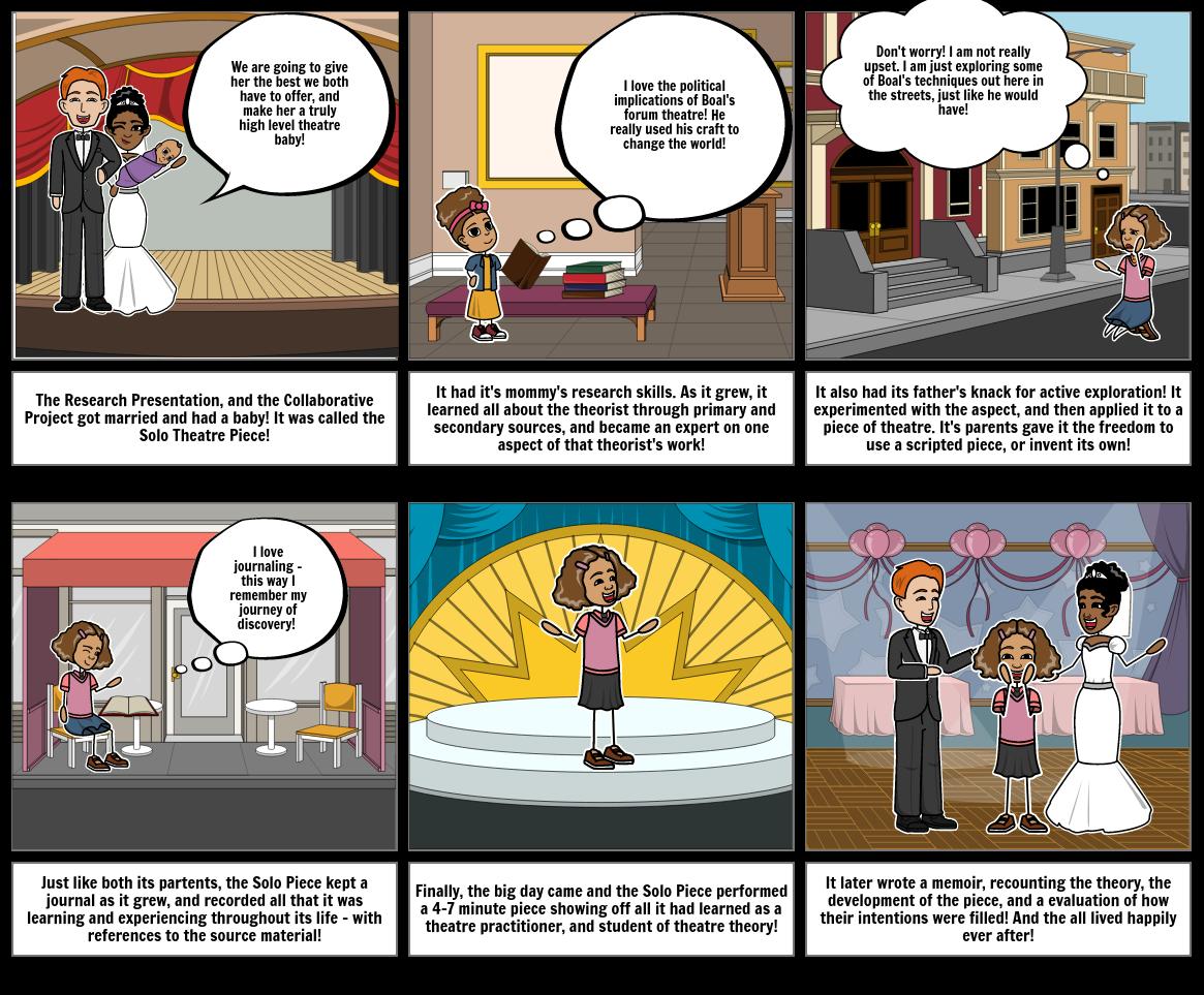 K Hendry Solo Theatre Piece Storyboard