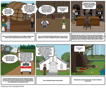 Huldrych Zwingli Life story