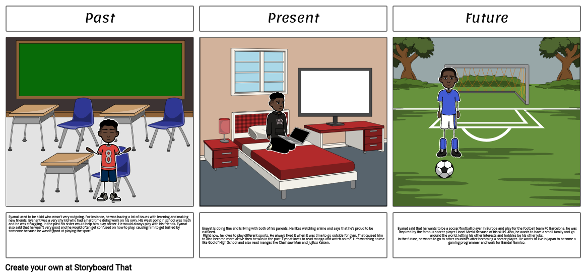 story board for humanities