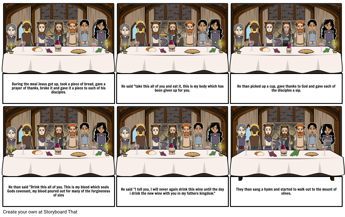 The Last Supper Marks Version - By Tess O Donnell