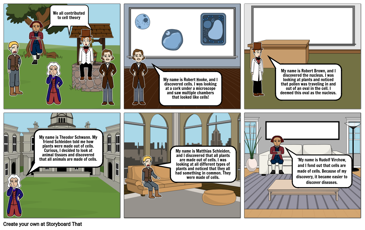 Cell Theory Comic Strip