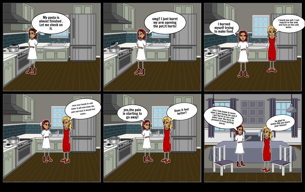 First aid comic strip