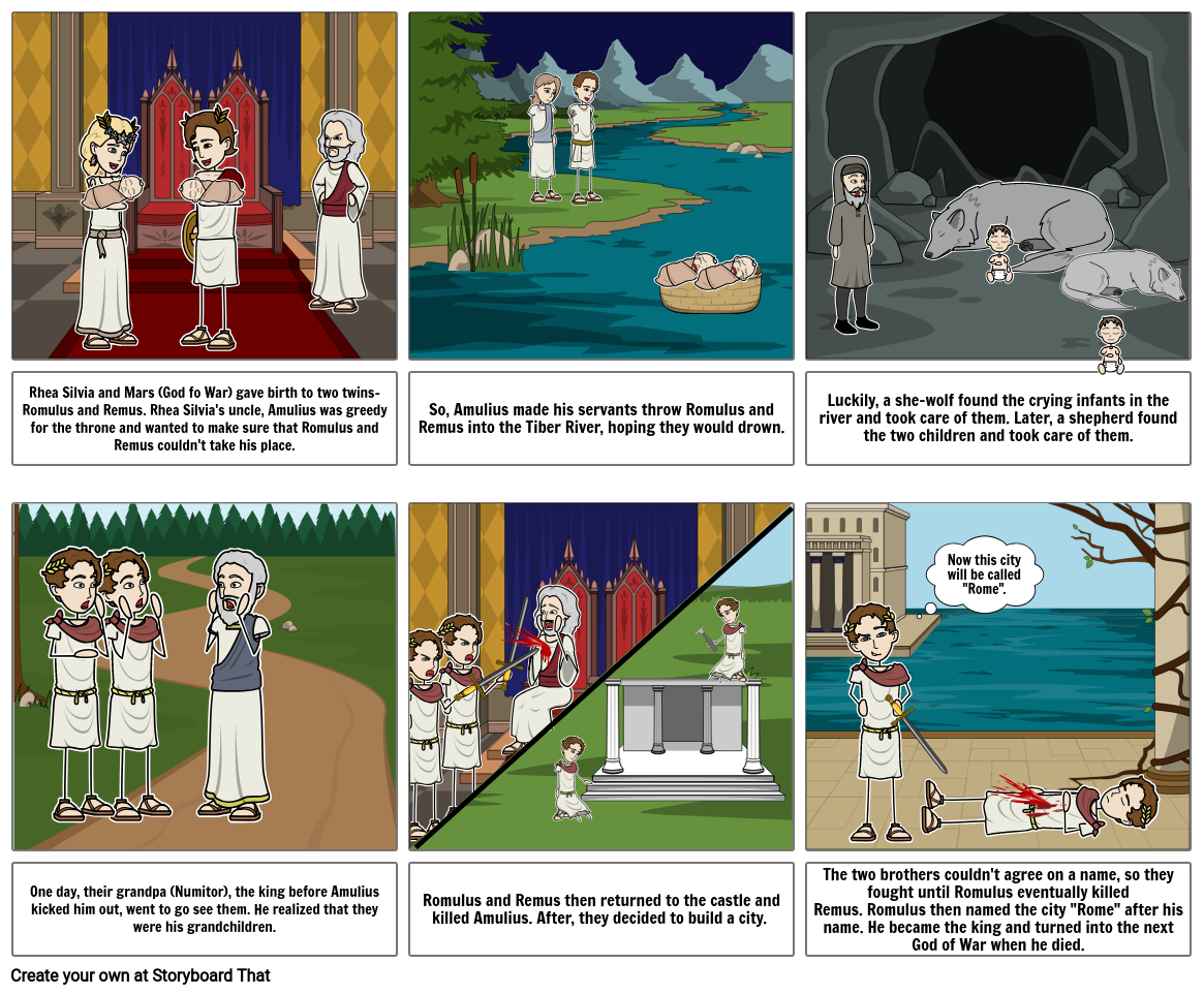 Romulus and Remus Myth/Legend