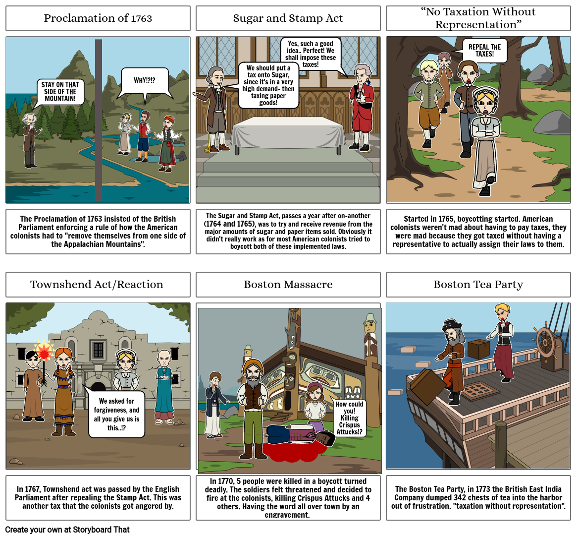 The Road to Revolution  Comic Strip
