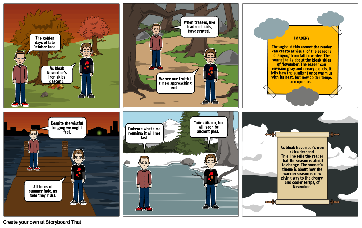 Lit Unit 3 storyboard for November sonnet_Treadwell Morgan