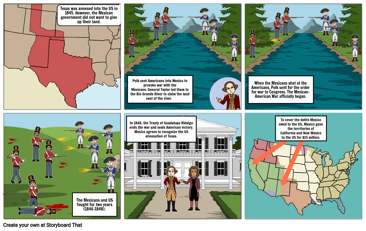 Mexican War Storyboard