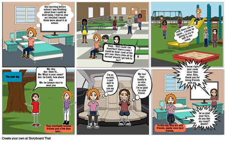 Kindness Awareness Month StoryBoard