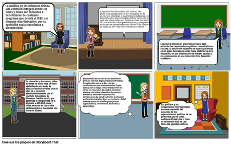 storyboard políticas y programas la infancia