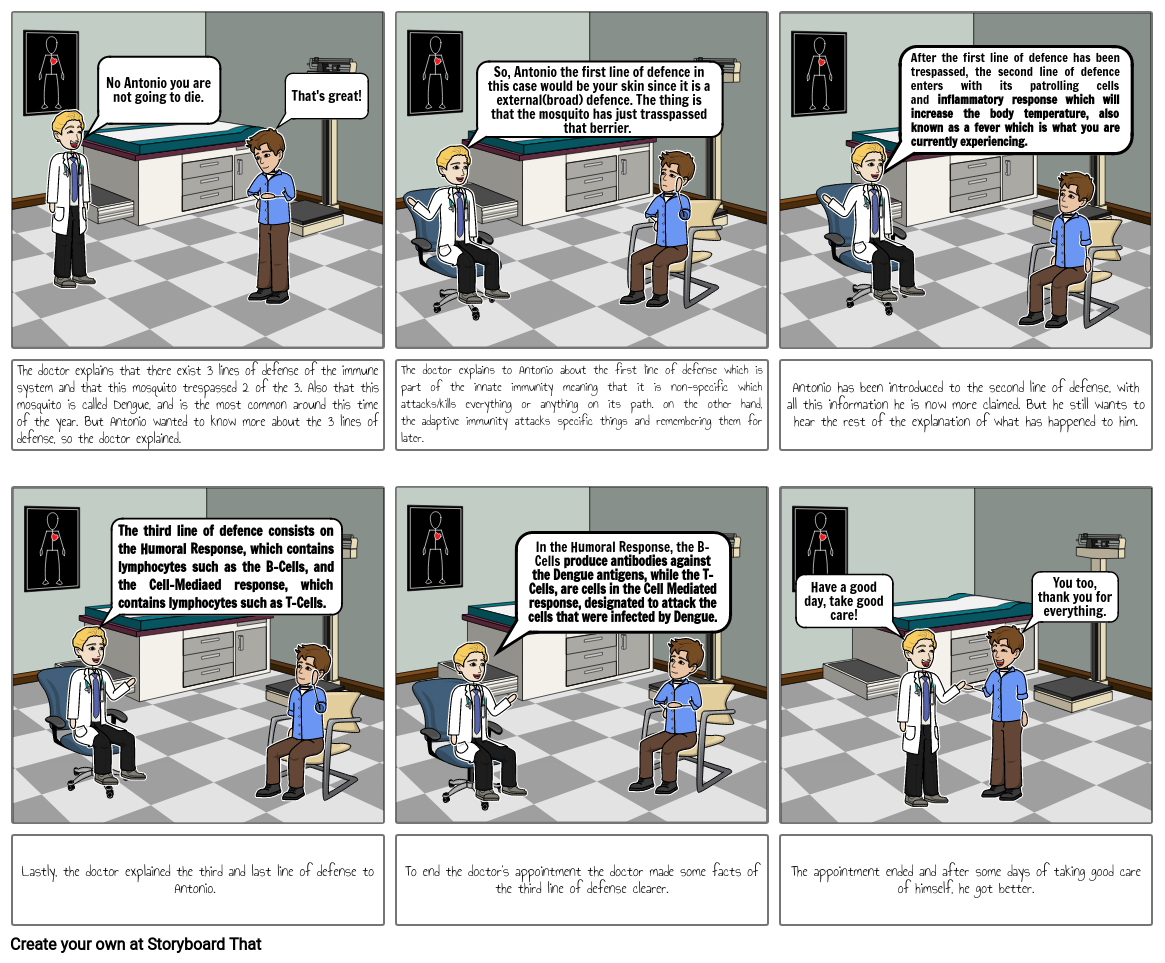 Immune system comic strip Pt.2