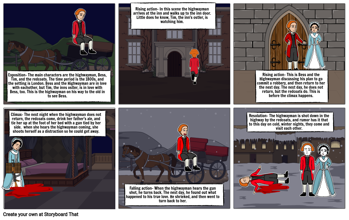 Highwayman Story Board Megan Becker