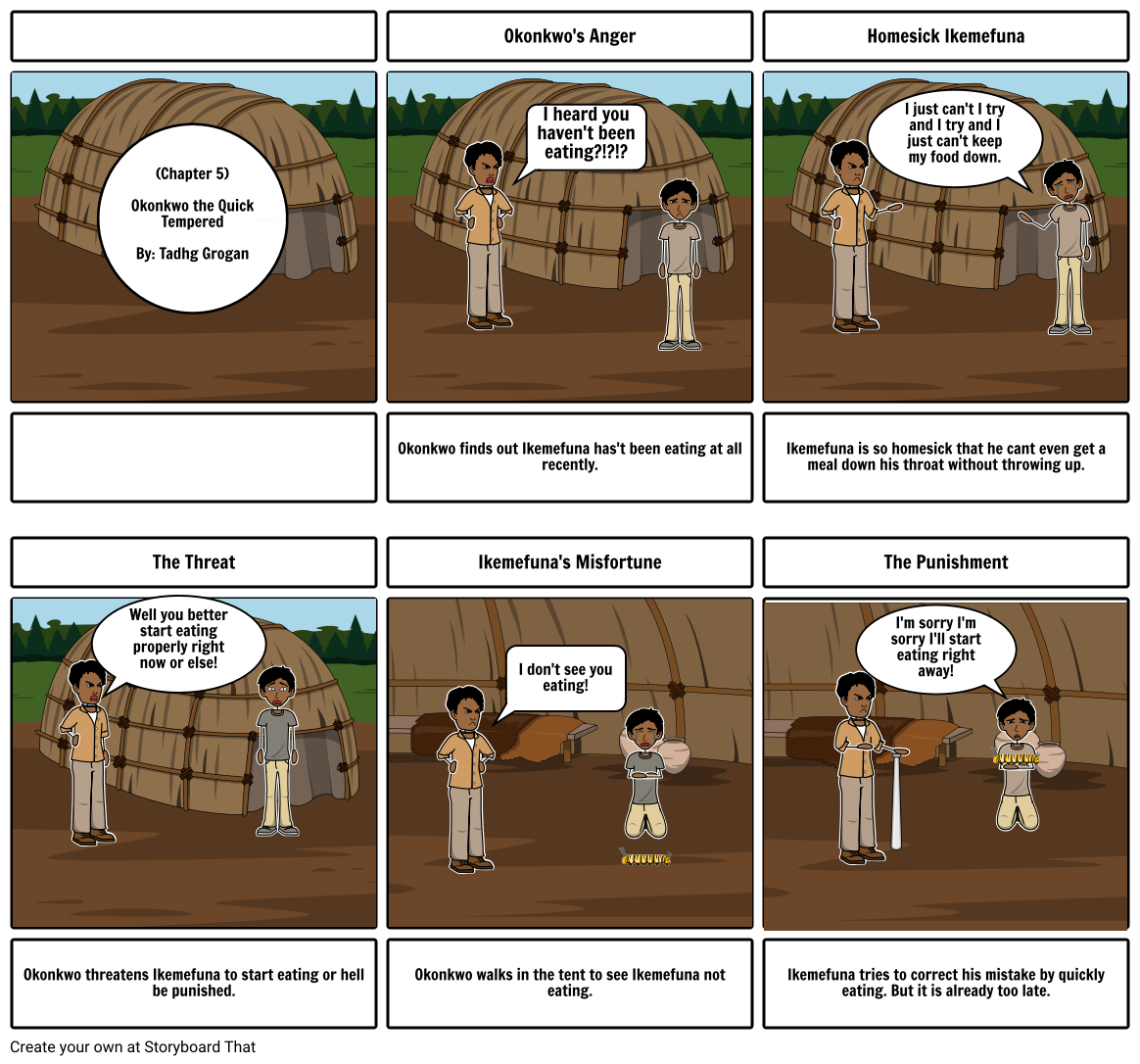 Okonkwo's Storyboard Analysis