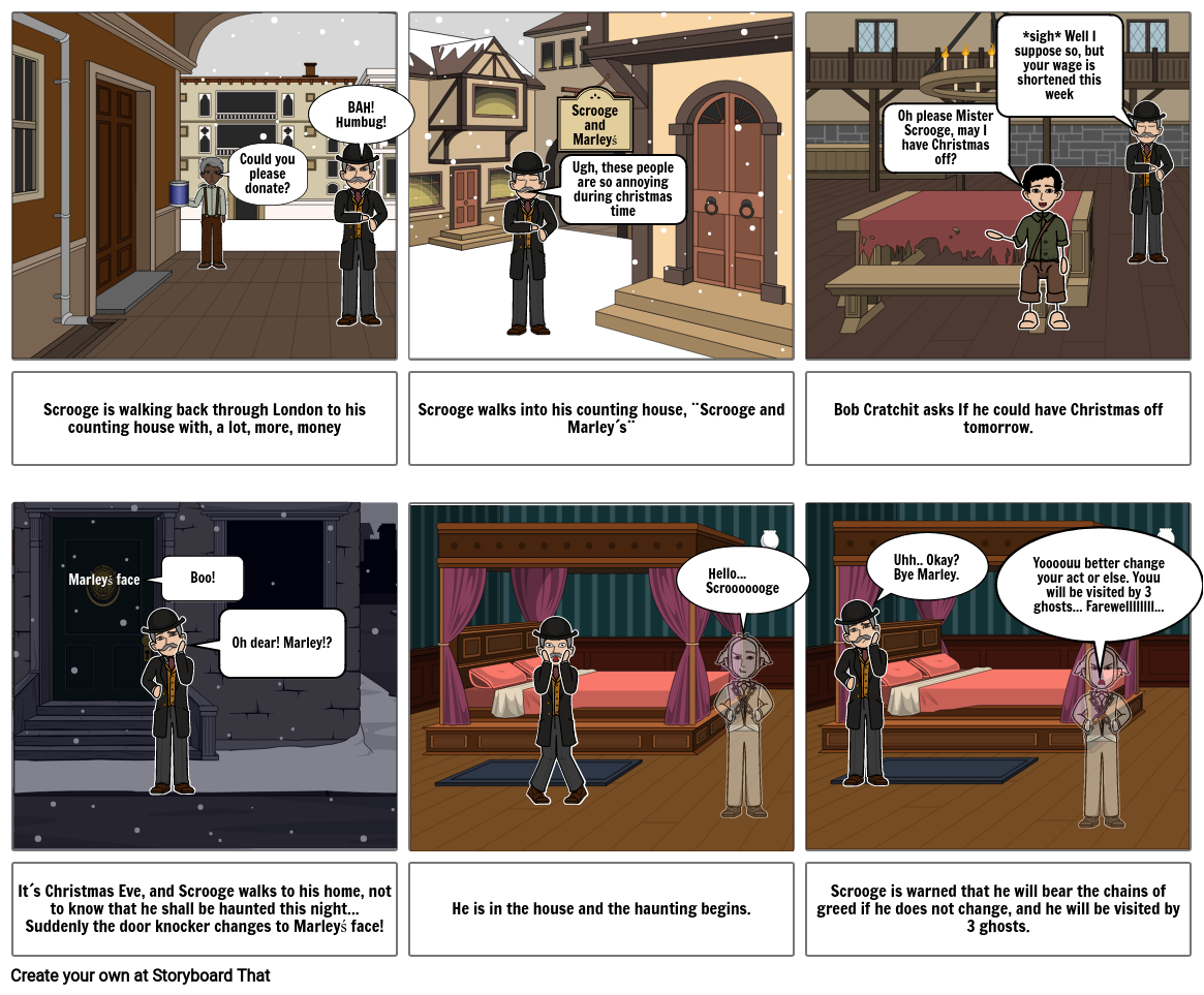 Stave 1 A Christmas Carol Storyboard by a773d030