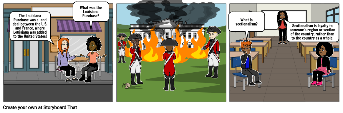 Louisiana Purchase - Antebellum Period - Story Board Part 2